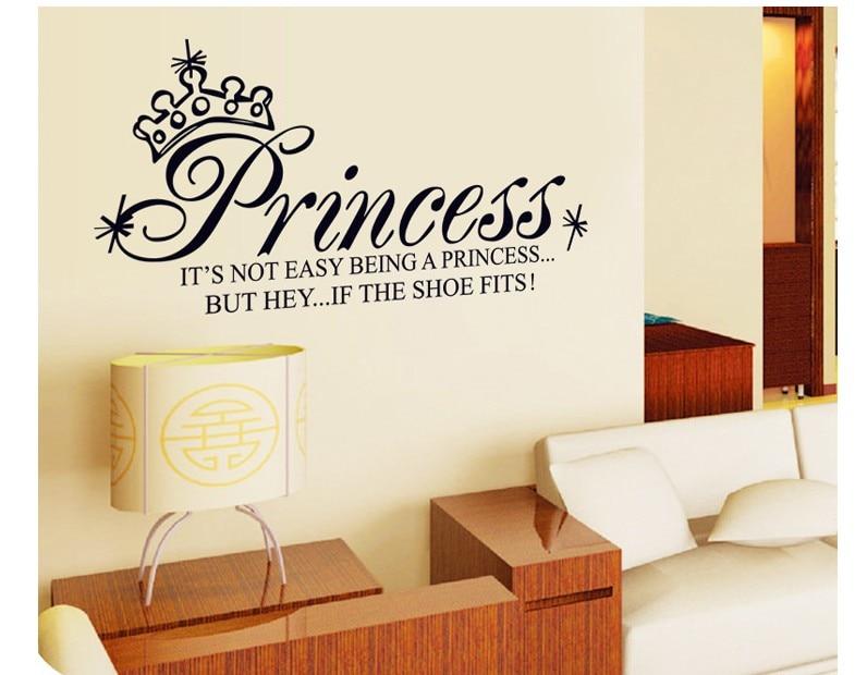 cartoon princess home decor wall stickers for kids rooms diy ...