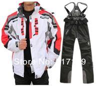 MOL L костюм белый пак черные брюки мужской комплект на открытом воздухе водонепроницаемый тепловой костюм мода красивый