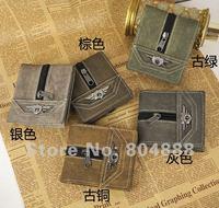 бесплатная доставка мода ретро кожаные кошелек мужской горячая распродажа дешевые портмоне
