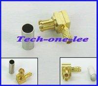 10 шт. / лот обжимные центр обязательной проверки вилка прямой угол коннектор для lmr100 rg316 rg174