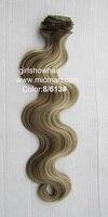 светлые волосы с целью, тела список выдвижения волос клип 0н полный головы расширение синтетические волосы, 613 #, 55 см, 130 грамм, 1 шт
