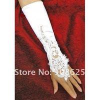 высокое качество белый / цвета слоновой кости перчатки без пальцев локоть длина bg003