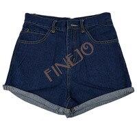 женщины в ретро леди в девочки джинсовые шорты sauce Tale fans синий шорты джинсы s м L хl 7853