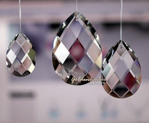 5 шт./лот 89 мм стекло rustle блеск обрезки colon в одно отверстие кристалл французский лист призма обрезки