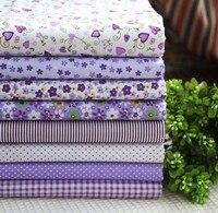 Фиолетовый влюбленность 100% хлопок одеяло пэчворк ткань тайник жир квартал 45 x 45 см 16 шт 8 ассорти узор