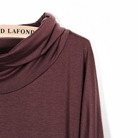 для женщин футболка с длинными рукавами топ мини декольте сексуальная 2 цвета #5117