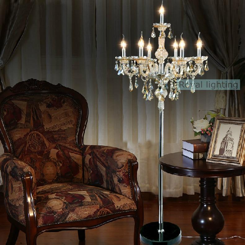 7 arm large wedding crystal floor lamps tall led candle candelabra getsubject aeproduct mozeypictures Choice Image