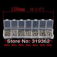 1 коробка открытая перейти кольца 3 мм - 8 мм / ювелирные изделия своими руками