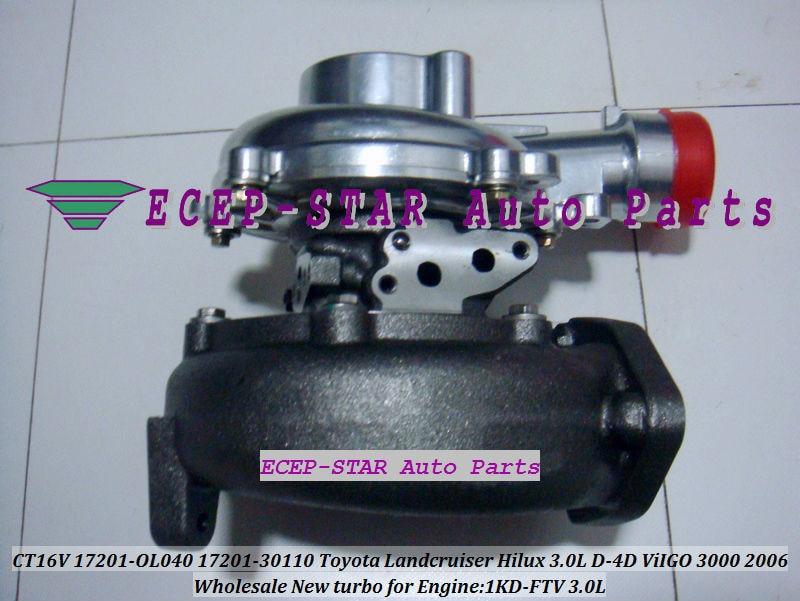 CT16V 17201-OL040 17201-0L040 Toyota Hilux 3.0LD ViIGO 3000 1KD-FTV turbo turbocharger (2)