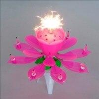 5 шт. / комплект Уолш игристое феиэрверк много цвет цветок музыкальный день рождения свеча