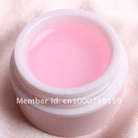 c013 бесплатная доставка 3 х очистить / белый / розовый гель строителя уф ногтей маникюр