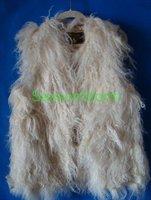 ЭМС бесплатная доставка ] продвижение высокое качество длинные монгольский ягненок меховой жилет / 100% овец меховой жилет