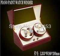 4 + 0 сетки люкс высокое качество деревянные часы заметки, красный и белый, авто на часы на кэп коробка, бесплатная доставка, Royal lack краска