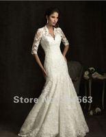 бесплатная доставка лучшие продажи kruger люкс свадебные платья с рукавом любой размер / цвет опт/роса