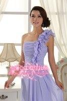 тост одно плечо шифон свадебное платье новый вечернее платье склонны с шоу