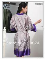 в ночь ws061 фиолетовый шелк платье 2-шт комплект