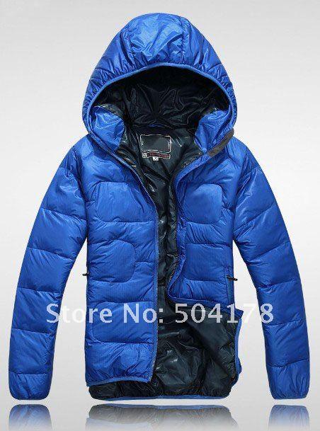 2012 New Arrival Men Short Hooded Down Jacket Warm Fashion Brand ...