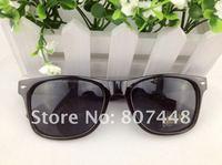 горячая распродажа! черный мода ретро-панк пластиковые очки очки, 12 шт./лот бесплатная доставка