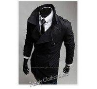 бесплатная доставка новое постулат мода 3 цветов 50% шерсть бушлат стиль зимние пальто для мужчин свободного покроя тощий Doubt c006