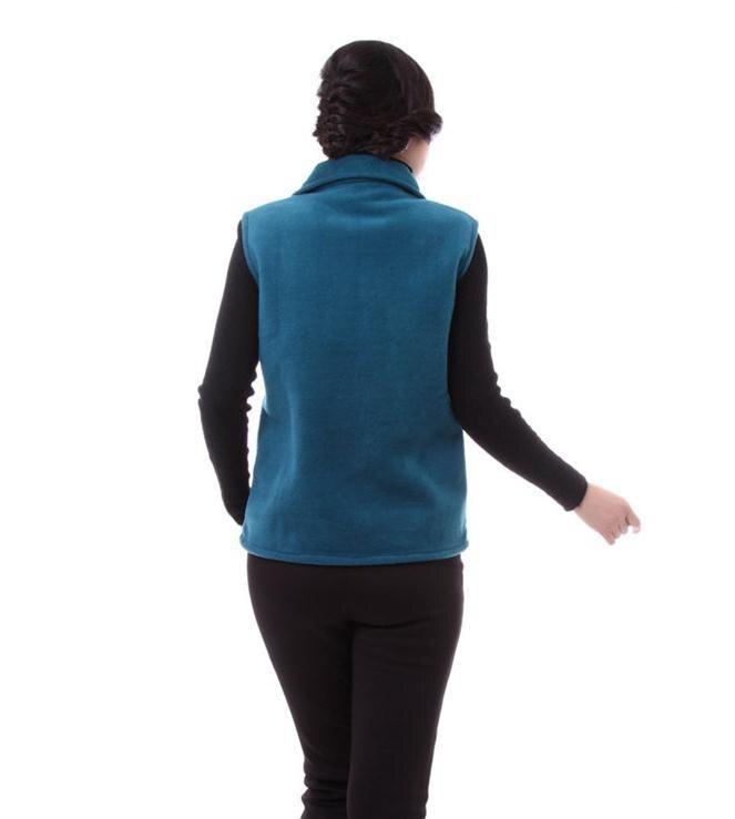 Hot Large yard in older fleece vest waistcoat spring fertilizer to increase women's new mother jacket Large size L-4XL