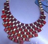 цена завода 2016 новых ювелирных изделий горячие оптовые старинные майор костюм преувеличены короткая девушка ожерелье позолоченный ожерелье