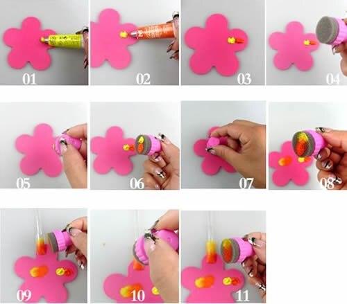 Sponge Nail Art Kit With 5 Sponges