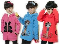 весна и осень девочек верхняя одежда, дети одежда мультфильм свитшот с обеих сторон # e097