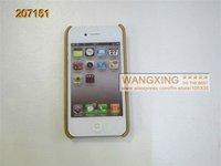 чистый бамбук одного нижней защитной оболочки, для iPhone 4 и 4S чехол, розничная, оптовая продажа, бесплатная доставка, #207151
