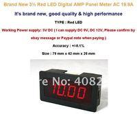 3 1/2 красный из светодиодов цифровой усилитель панель + шунт переменного тока 20А