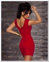 платья н . а . Фуллер, дамы с цепь печать клуб одежда na082 размер М / ххl красный / черный