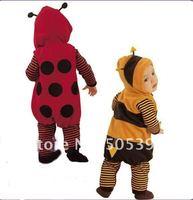 младенческая прекрасный животное одежда с кепка / младенцы ползунки, леди жуки стиль, одежда для младенцев # 5252