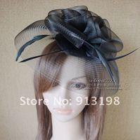 Королев свадьба импорт жесткий сетки толстая перо цветы большой Cherokee пол SAP головной бар украшения для волос Rod шляпы