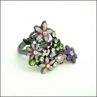 мода кольцо бесплатная доставка Mean заказ - цветок # nr155