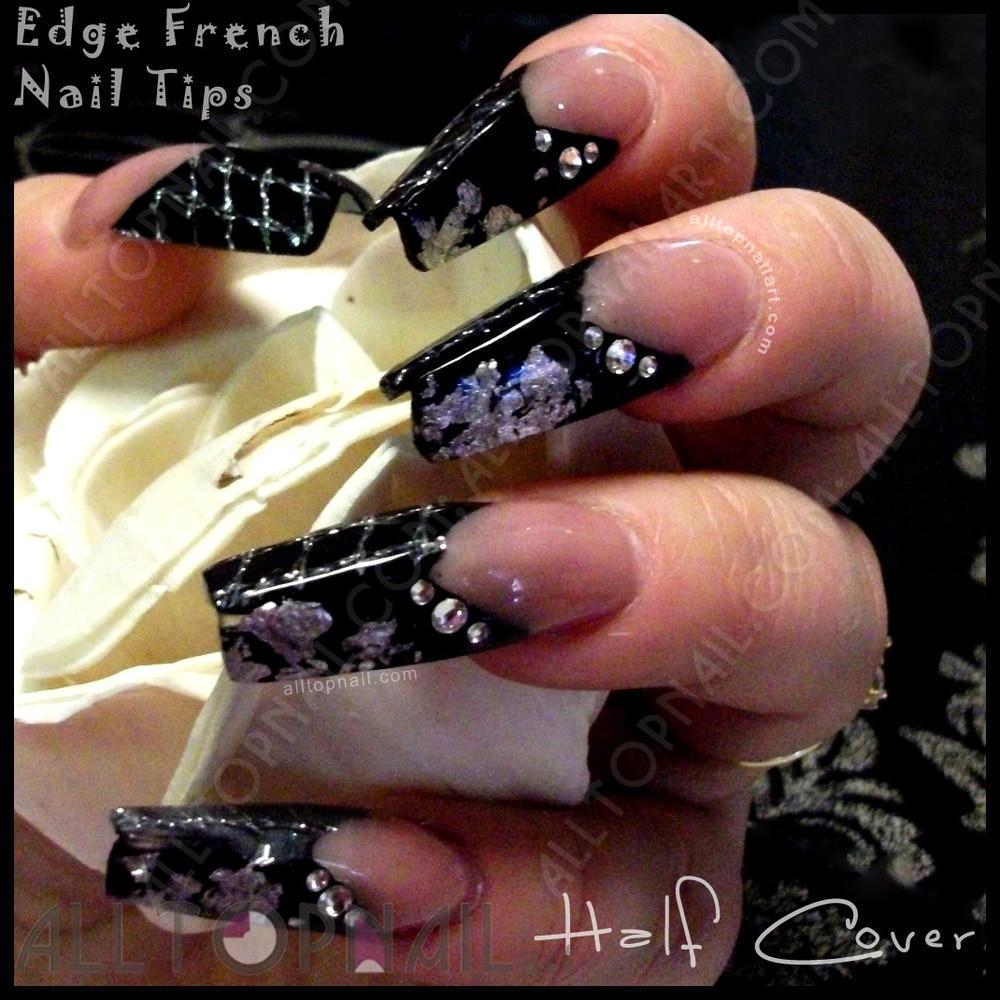 EDGE Well less French Salon False Nail Art Tips 200 Set Perfect ...