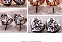 оптовая продажа ювелирных изделий 14 к роза белая сердца серьги иглы серьги новый sje164 бесплатная доставка