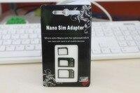 для для iPhone 5 4 и 4S сим-адаптер noosy для нано микро сим-адаптер + стандартный SIM-карты адаптеры 3-в-1 черный и белый 1 шт./лот