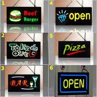 гарантия 100% эпоксидная смола знак на ресторан открыть из светодиодов света
