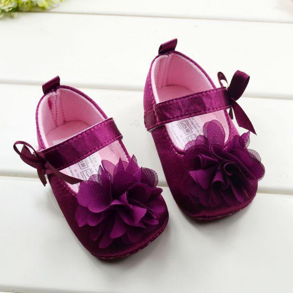 UK Baby Toddler Children Shoes Girls Floral Sole Crib Walker Shoes Kids Boots