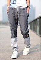 мужчины в свободного покроя спорт брюки вышивка дизайн черный серый прямой брюки м-XXL yj417