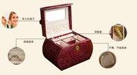 Европа в стиле ретро двойной коробка для ювелирных изделий