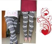 бесплатная доставка новое поступление осень и зима онта леопардовые леггинсы длинные брюки большой размер рождественский олень x0061