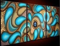 ручной работы 3 панели кобура современной Abstract живописи, украшения дома картины на стене картина маслом на кобура