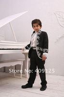 бесплатная доставка новый стиль мальчиков наряд мальчик свадебный костюм ребенок подходит жених носить официальную одежду платье полные конструктор смокинги b011