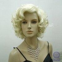 d026 бесплатная доставка синтетического волокна из 100% канекалон высокое качество женская волосы парик, сексуальное мэрилин монро с коротким парики