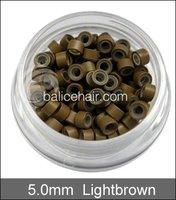 500 шт. черный цвет микро силикон кольца / соединения / бусины для наращивания волос