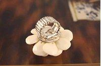15 мм размер мода прекрасный большой creamy Camel цвета кольцо, изменение размера j1186