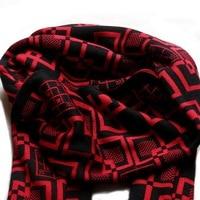 80273 женщин людей шарфы мода конструктор хлопок полосатый плед этнические теплые акриловые зимняя шерсть черный и красный шарфы китай
