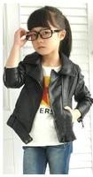 дети кожа куртки пальто красный и черный длинный рукав девочка куртка MOL плескаться дети верхняя одежда топы act001
