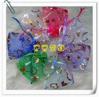 новый красивый 7 см * 9 см ювелирных изделий, в форме сердца пряжа ожерелья, кольца, серьги сумка 7 цвет, бесплатная доставка 100 шт. / сумка