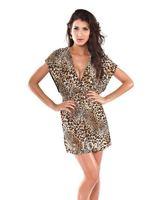 бесплатная доставка в-бюстгальтер изделия мода леопард пляж - женская печать пляж платья оптовая продажа Seal пара